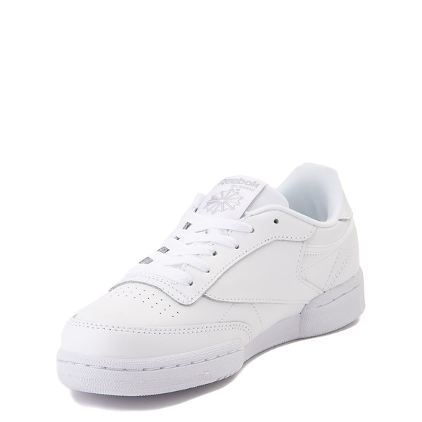 alternate view Reebok Club C Athletic Shoe - Big Kid - White MonochromeALT2