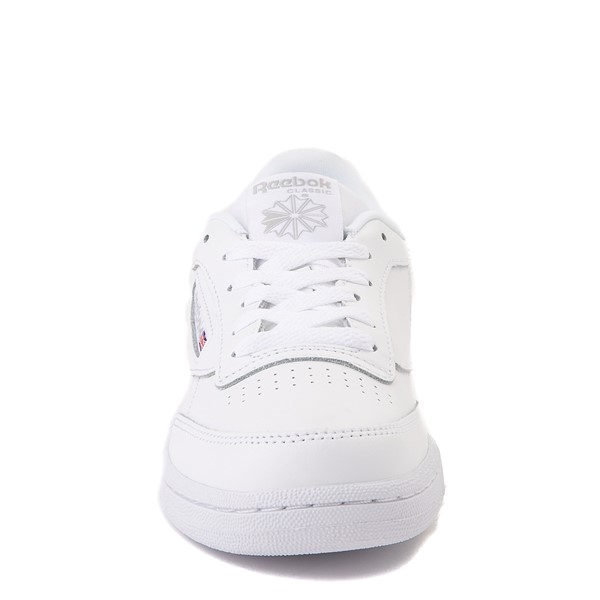 alternate view Reebok Club C Athletic Shoe - Big Kid - White MonochromeALT4