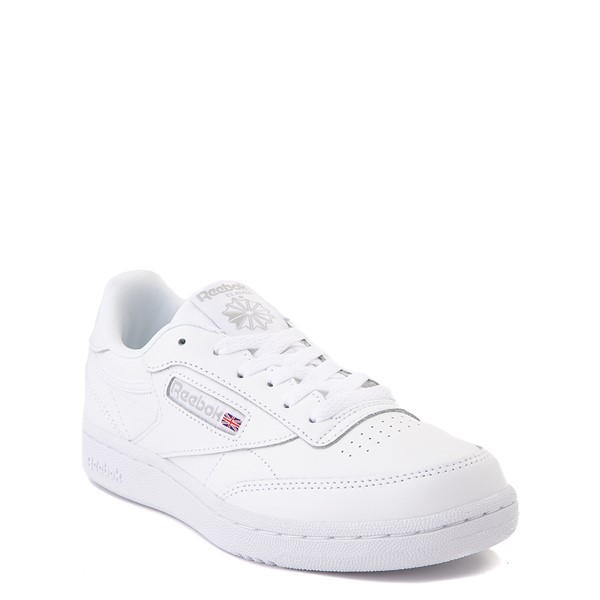 alternate view Reebok Club C Athletic Shoe - Big Kid - White MonochromeALT5