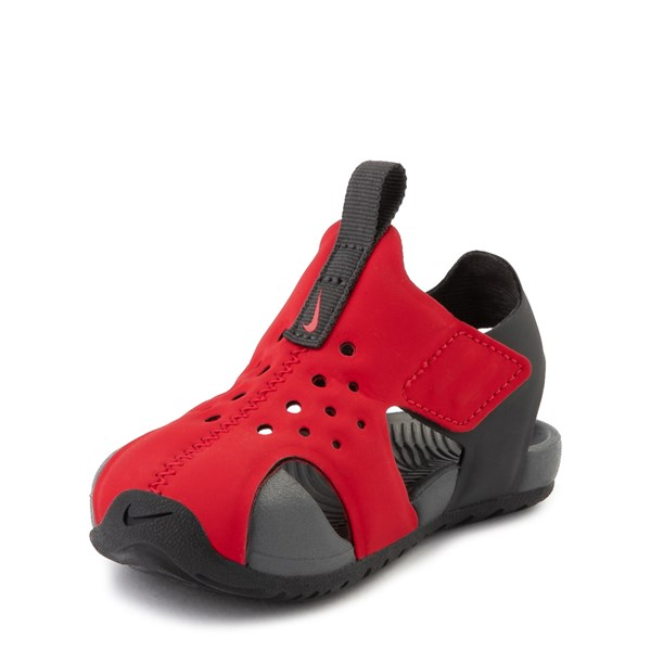 alternate view Nike Sunray Protect Sandal - Baby / Toddler - Red / AnthraciteALT3