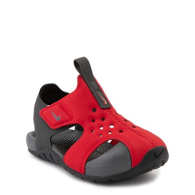 Alternate view of Nike Sunray Protect Sandal - Baby / Toddler - Red / Anthracite