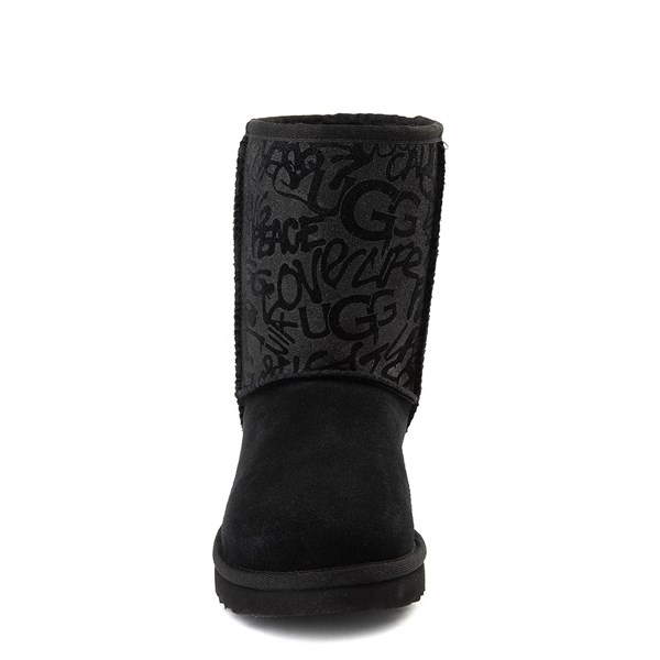 alternate view Womens UGG® Classic Short Graffiti Boot - BlackALT4
