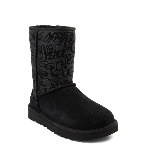 alternate view Womens UGG® Classic Short Graffiti Boot - BlackALT5