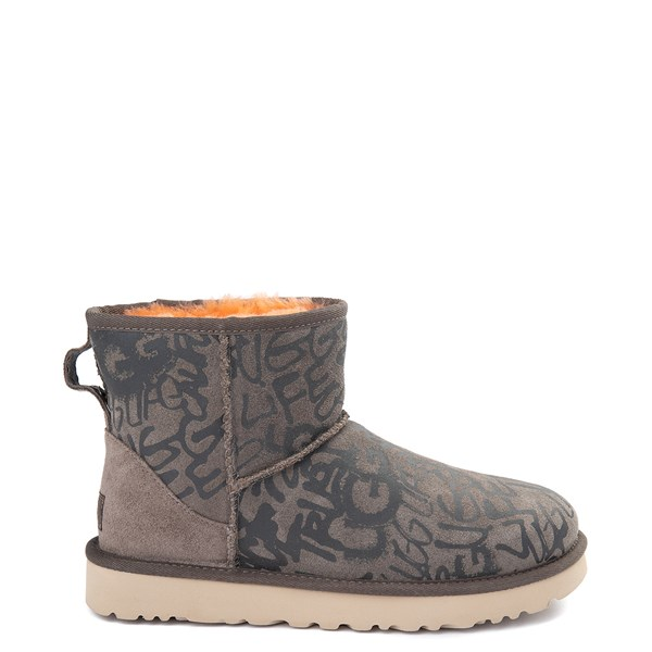 Womens UGG® Classic Mini II Graffiti Boot - Slate