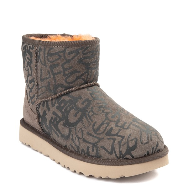 alternate view Womens UGG® Classic Mini II Graffiti Boot - SlateALT1