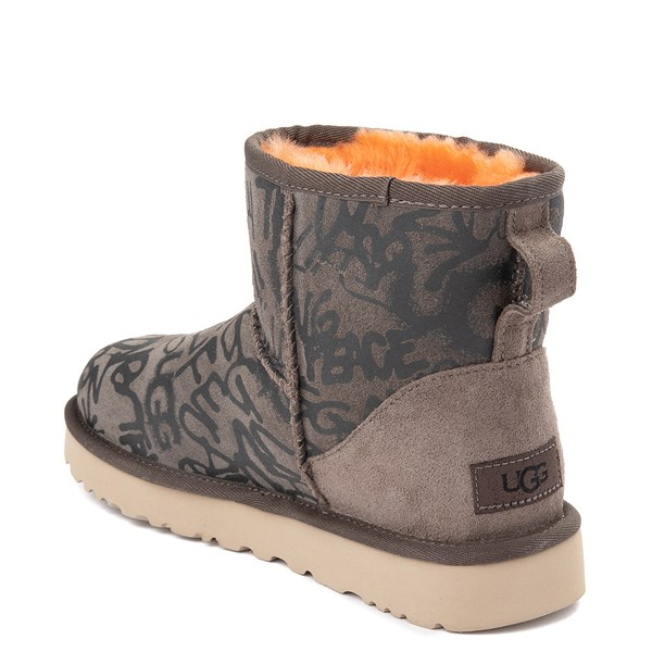 alternate view Womens UGG® Classic Mini II Graffiti Boot - SlateALT2