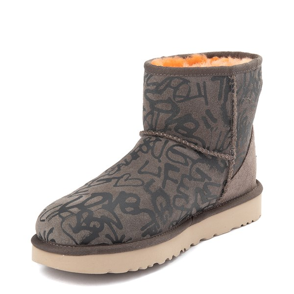 alternate view Womens UGG® Classic Mini II Graffiti Boot - SlateALT3