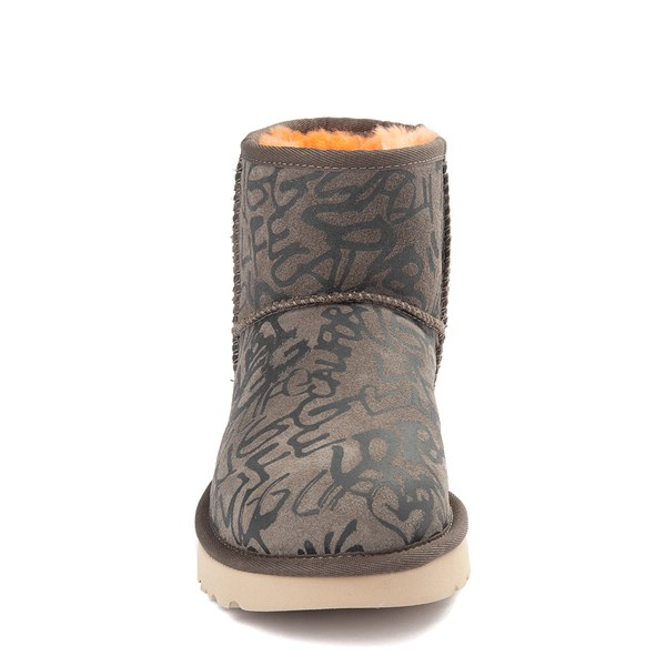 alternate view Womens UGG® Classic Mini II Graffiti Boot - SlateALT4