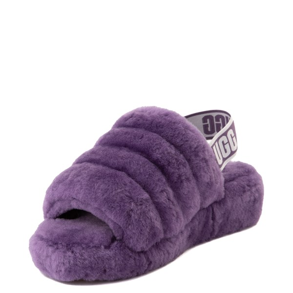 alternate view Womens UGG® Fluff Yeah Slide Sandal - VioletALT3