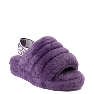 Alternate view of Womens UGG® Fluff Yeah Slide Sandal - Violet