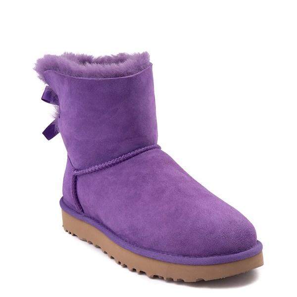 alternate view Womens UGG® Mini Bailey Bow II Boot - Violet BloomALT1