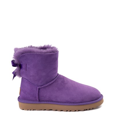 Main view of Womens UGG® Mini Bailey Bow II Boot - Violet Bloom