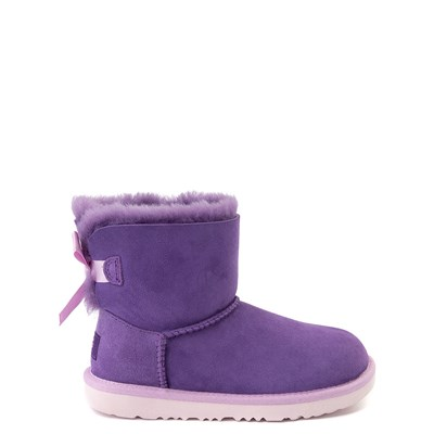 Main view of UGG® Mini Bailey Bow II Boot - Little Kid / Big Kid - Violet Bloom