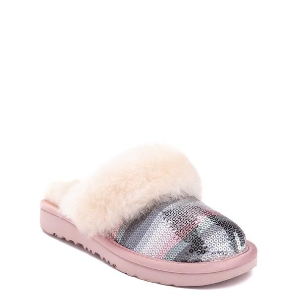 alternate view UGG® Cozy II Slipper - Little Kid / Big Kid - Pink / Crystal RainbowALT1