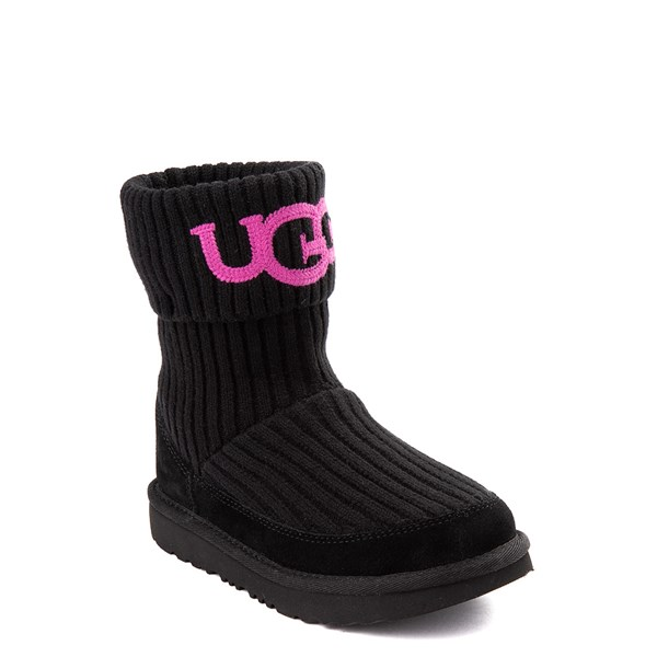 alternate view UGG® Knit Boot - Little Kid / Big Kid - BlackALT1