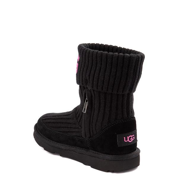 alternate view UGG® Knit Boot - Little Kid / Big Kid - BlackALT2