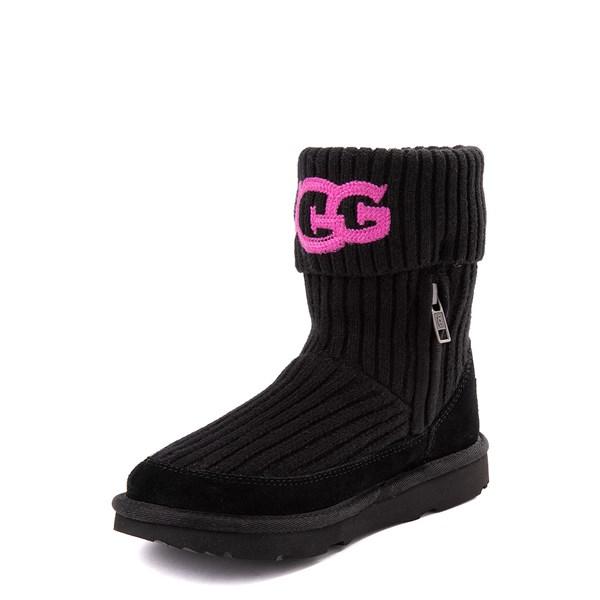 alternate view UGG® Knit Boot - Little Kid / Big Kid - BlackALT3