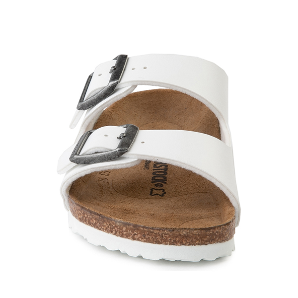 alternate view Birkenstock Arizona Sandal - Little Kid - WhiteALT4