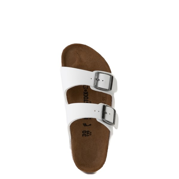 alternate view Birkenstock Arizona Sandal - Little Kid - WhiteALT4B