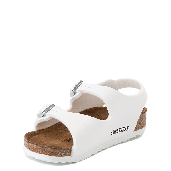 alternate view Birkenstock Roma Sandal - Toddler / Little Kid - WhiteALT2