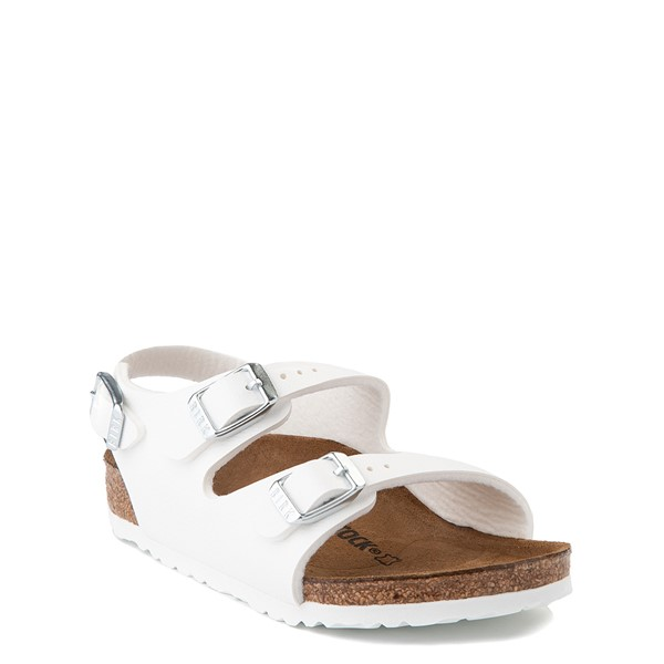 alternate view Birkenstock Roma Sandal - Toddler / Little Kid - WhiteALT5