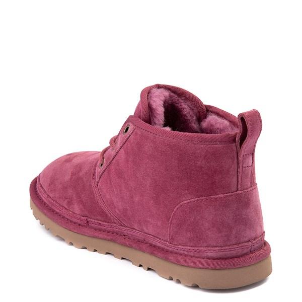 alternate view Womens UGG® Neumel Short Boot - Dark PinkALT2