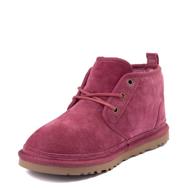 alternate view Womens UGG® Neumel Short Boot - Dark PinkALT3