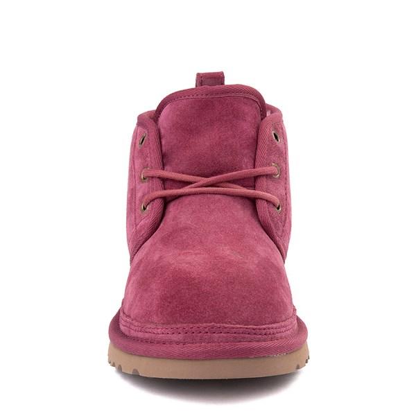 alternate view Womens UGG® Neumel Short Boot - Dark PinkALT4