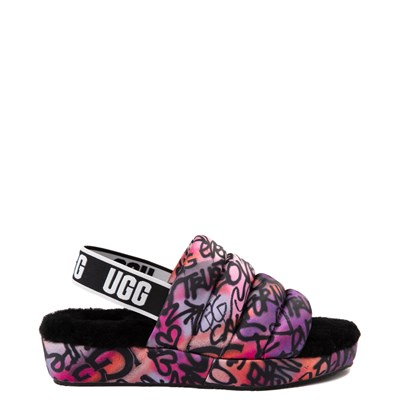 Main view of Womens UGG® Puff Yeah Pop Graffiti Sandal