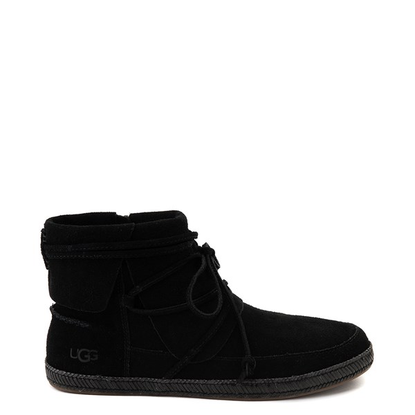 Womens UGG® Reid Moccasin Boot - Black