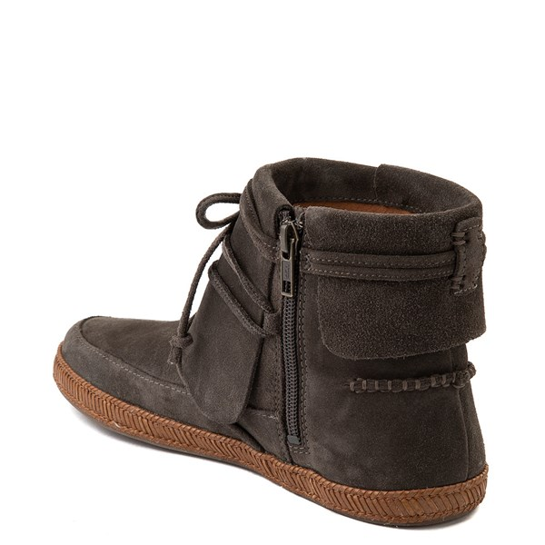 alternate view Womens UGG® Reid Moccasin Boot - SlateALT2