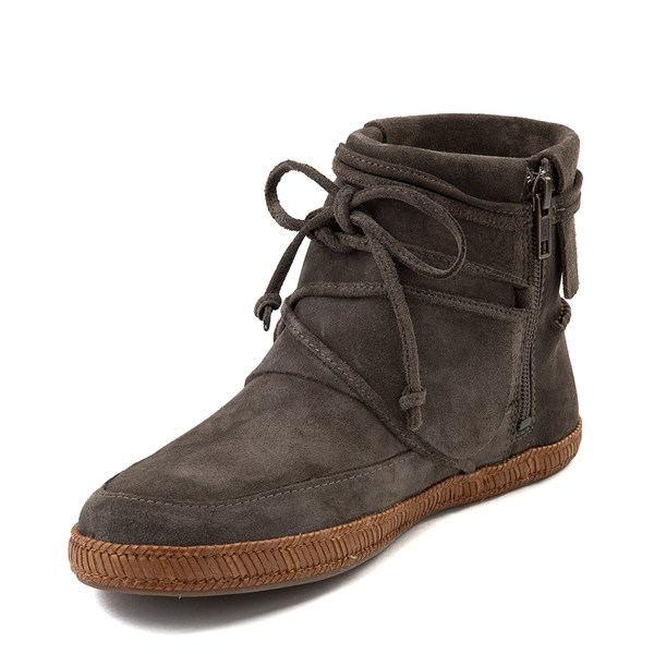 alternate view Womens UGG® Reid Moccasin Boot - SlateALT3