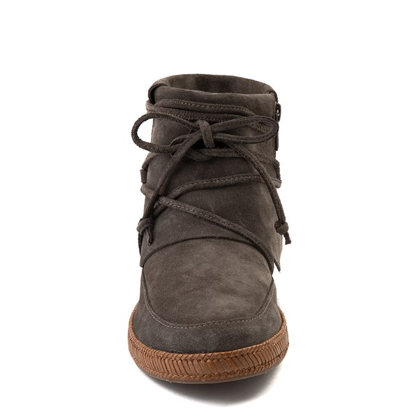 alternate view Womens UGG® Reid Moccasin Boot - SlateALT4