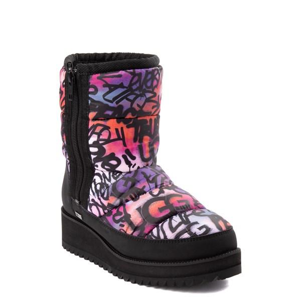 alternate view Womens UGG® Ridge Graffiti Pop Platform Boot - Black / MultiALT1