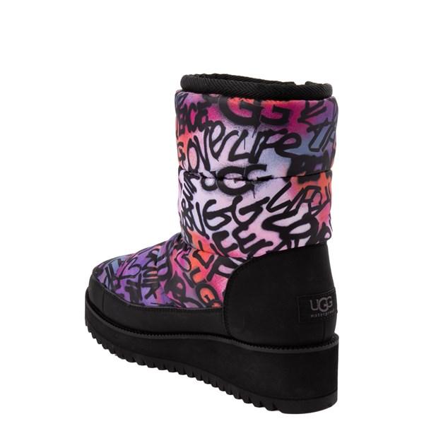 alternate view Womens UGG® Ridge Graffiti Pop Platform Boot - Black / MultiALT2