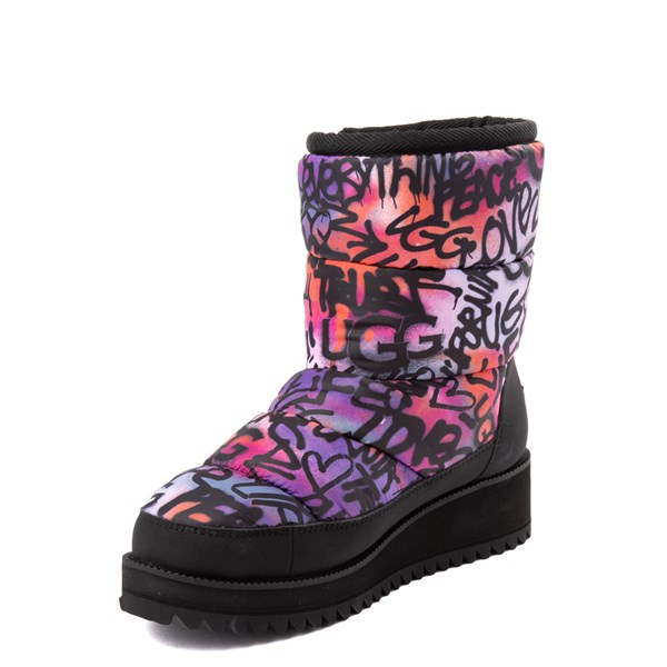 alternate view Womens UGG® Ridge Graffiti Pop Platform Boot - Black / MultiALT3