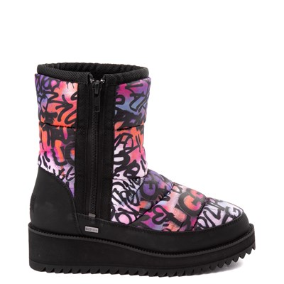Main view of Womens UGG® Ridge Graffiti Pop Boot - Black / Multi