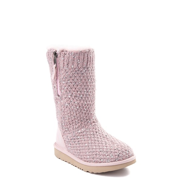Alternate view of UGG® Knit Sequin Boot - Little Kid / Big Kid - Pink Crystal