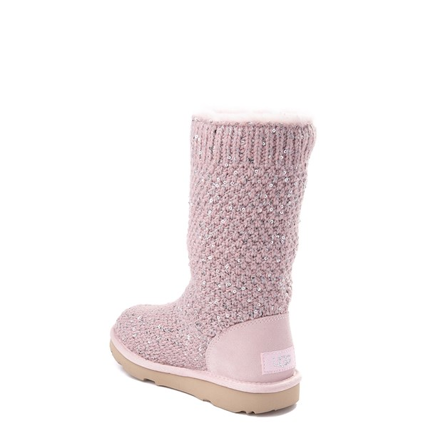 alternate view UGG® Knit Sequin Boot - Little Kid / Big KidALT2