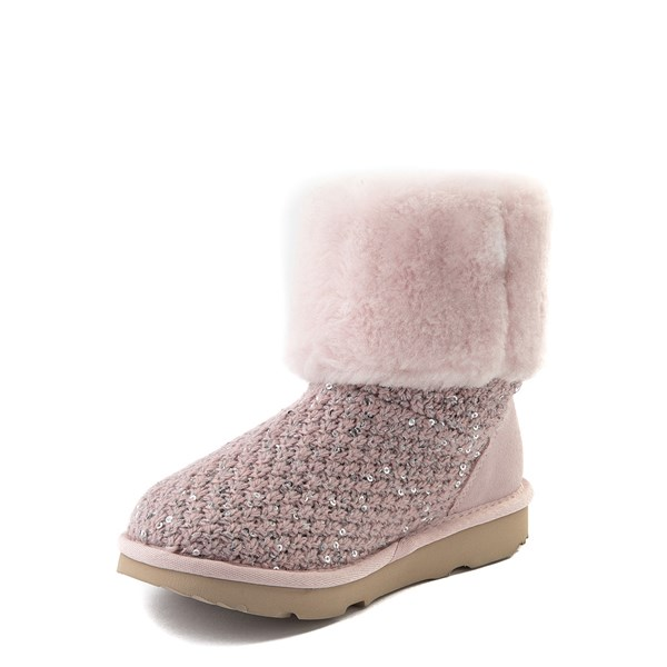 alternate view UGG® Knit Sequin Boot - Little Kid / Big KidALT3