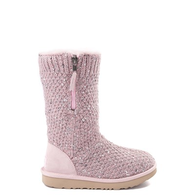 Main view of UGG® Knit Sequin Boot - Little Kid / Big Kid
