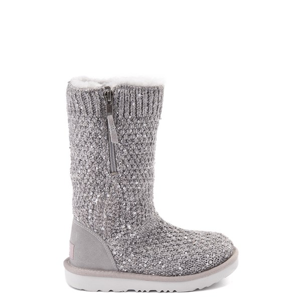 Default view of UGG® Knit Sequin Boot - Little Kid / Big Kid - Seal