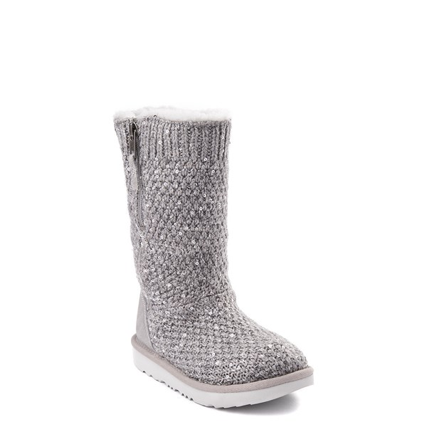 alternate view UGG® Knit Sequin Boot - Little Kid / Big KidALT1