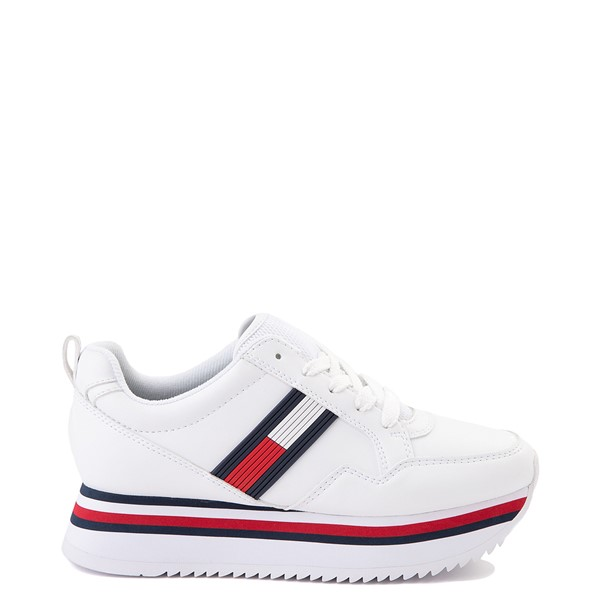 Womens Tommy Hilfiger Cayley Platform Casual Shoe - White