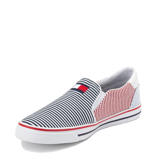 alternate view Womens Tommy Hilfiger Oaklyn Slip On Casual Shoe - Navy / RedALT2