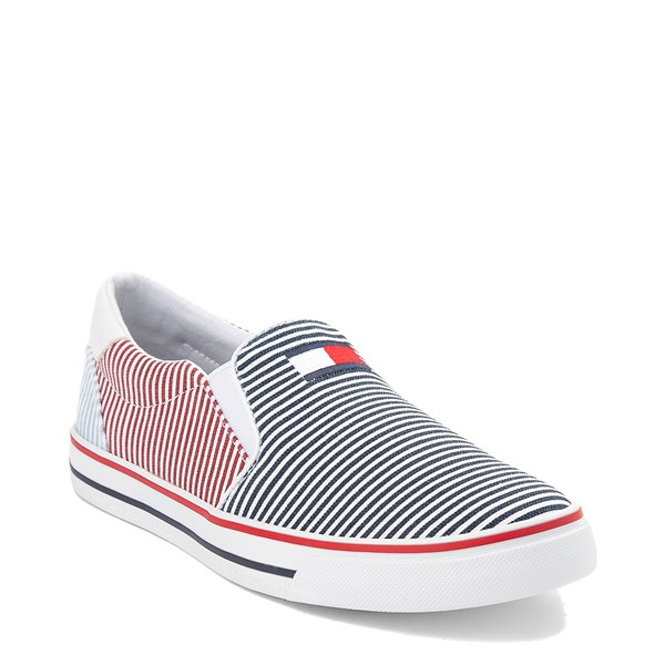 alternate view Womens Tommy Hilfiger Oaklyn Slip On Casual Shoe - Navy / RedALT5