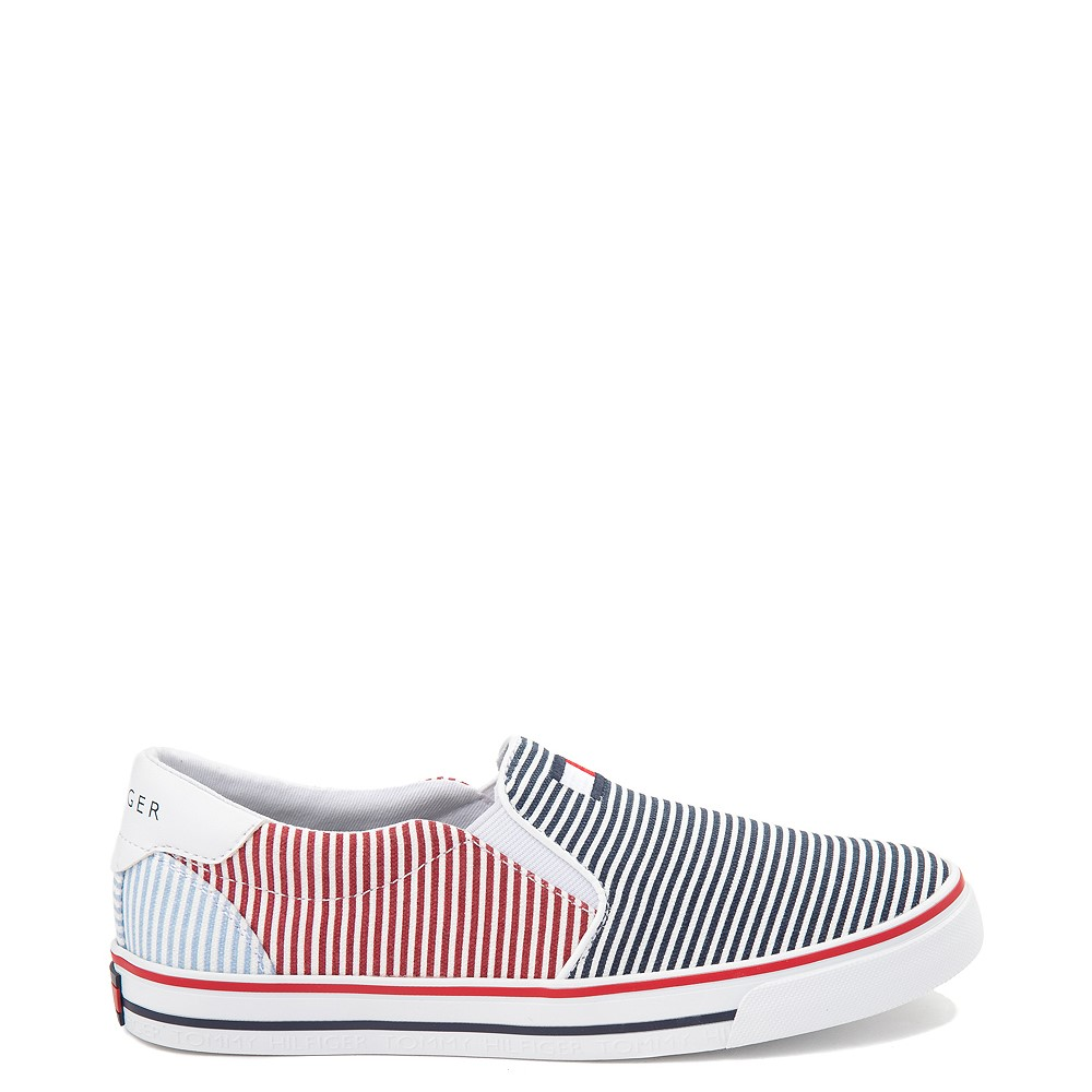 Womens Tommy Hilfiger Oaklyn Slip On Casual Shoe - Navy / Red