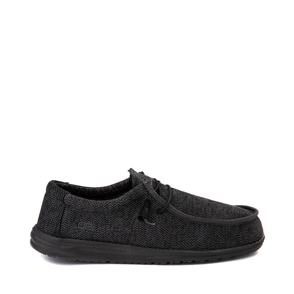Mens Hey Dude Wally Sox Casual Shoe - Black