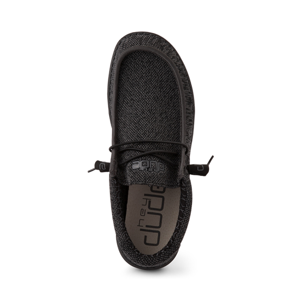 alternate view Mens Hey Dude Wally Sox Casual Shoe - BlackALT2