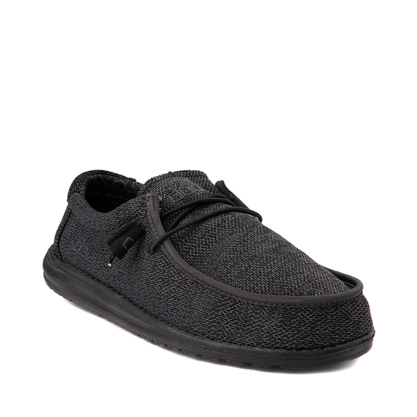 alternate view Mens Hey Dude Wally Sox Casual Shoe - BlackALT5